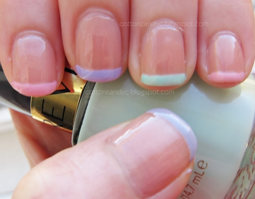 Cotton Candy Blog: Spring Nail French Manicure