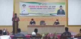 Sekda Provinsi Jambi Secara Resmi Membuka Seleksi STQ Nasional Ke-26.