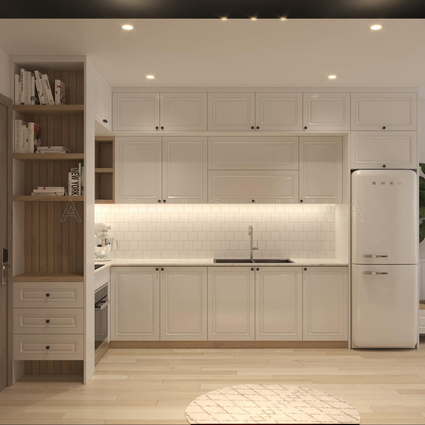 Thiết kế nội thất căn hộ 55m2 S4.02 Vinhomes Smart City Tây Mỗ