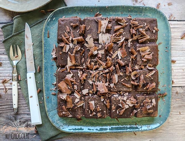 gateau chocolat moule tablette