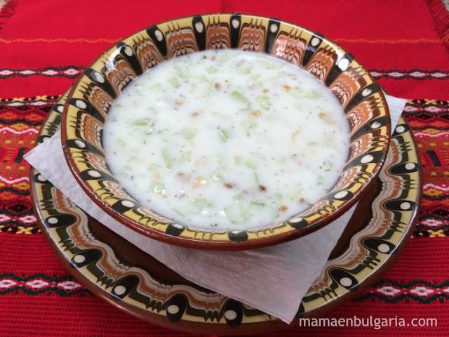 tarator sopa yogur pepino Bulgaria