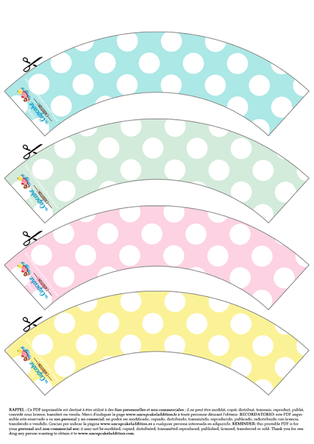 Cupcake Wrappers Polka Dots