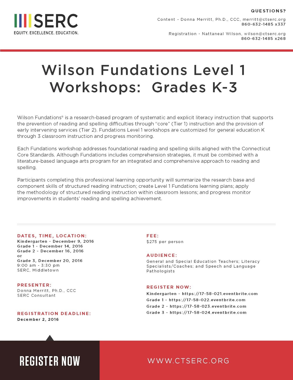 hight resolution of SERC Library: Wilson Fundations Level 1 Workshops