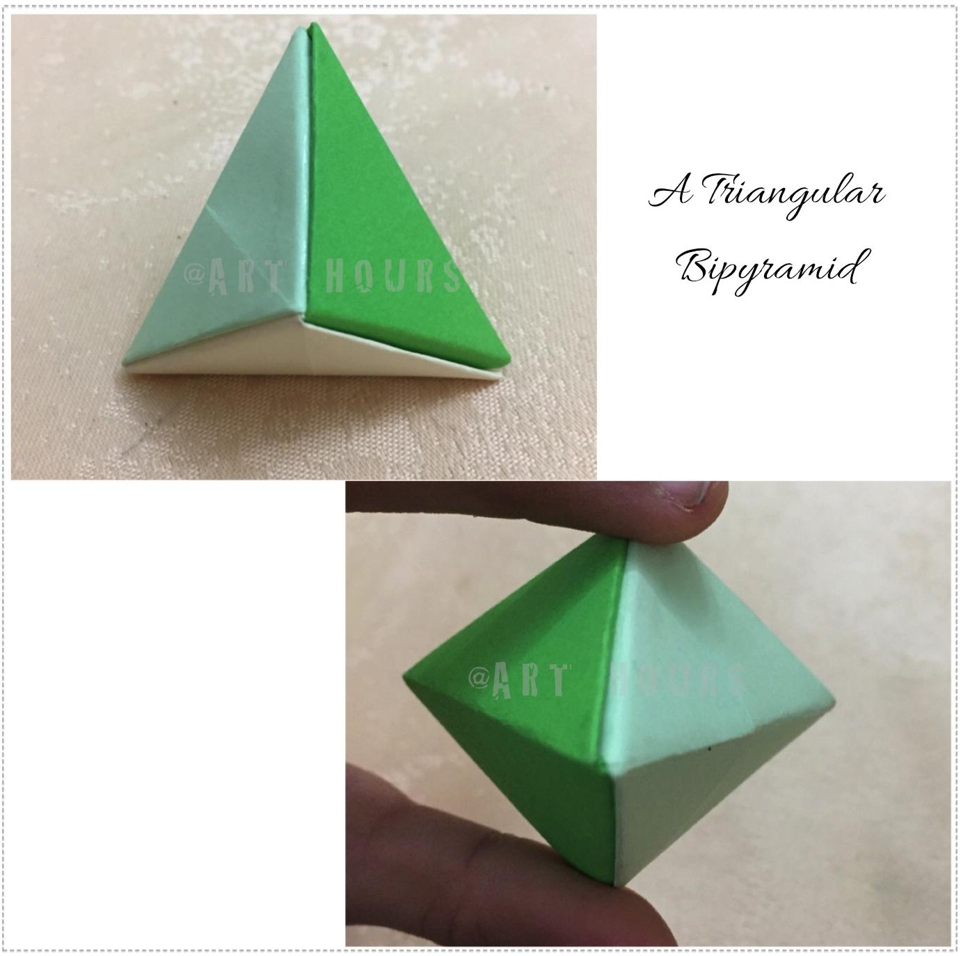 A Triangular Bipyramid Using 3 Sonobe Units