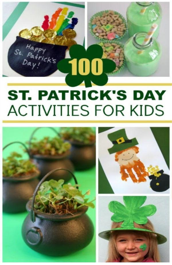 100+ fun & creative St. Patrick's Day activities for kids.  Crafts, games, experiments, and more! #stpatricksday #stpatricksdaycraftsforkids #growingajeweledrose #activitiesforkids