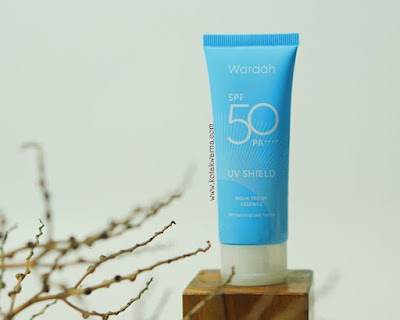wardah uv shield fresh aqua essence, wardah sunscreen terbaru