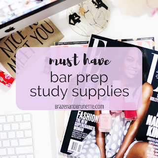 What I actually used to study for the bar exam. Bar exam study supplies I'm glad I had. What to buy before the Bar exam. What you'll need to study for the Bar. Study space for the bar exam. Bar exam advice. what to get before the Bar | brazenandbrunette.com