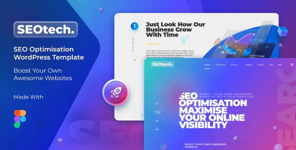 Best Modern SEO and Marketing Business Figma Template