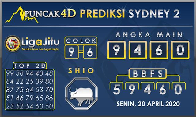 PREDIKSI TOGEL SYDNEY2 PUNCAK4D 20 APRIL 2020
