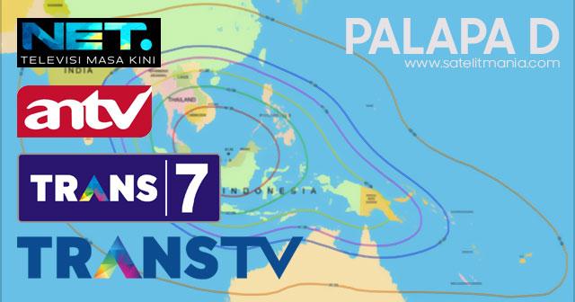 Channel Terbaru TransTV, Trans7, Net TV dan ANTV di Satelit Palapa D