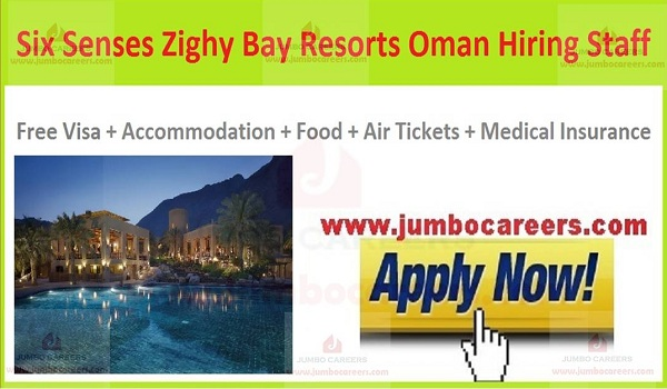 Six Senses Zighy Bay Dibba Oman job salary