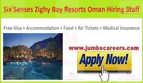 Six Senses Zighy Bay Resorts Oman Careers 2020