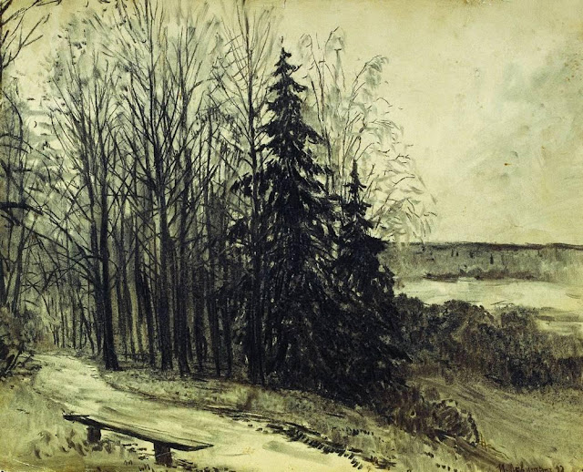 Исаак Ильич Левитан - Пейзаж. 1892