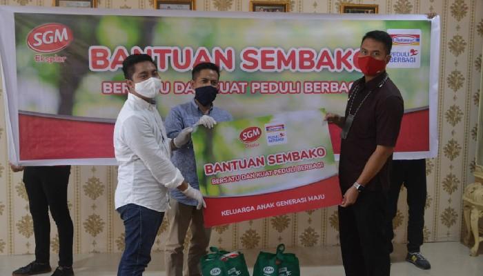 PT Indomarco Serahkan Ratusan Bantuan Sembako ke Bupati ASA