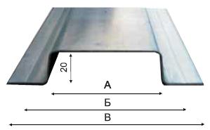Профиль вертикальный ВП65 х 1,2мм
