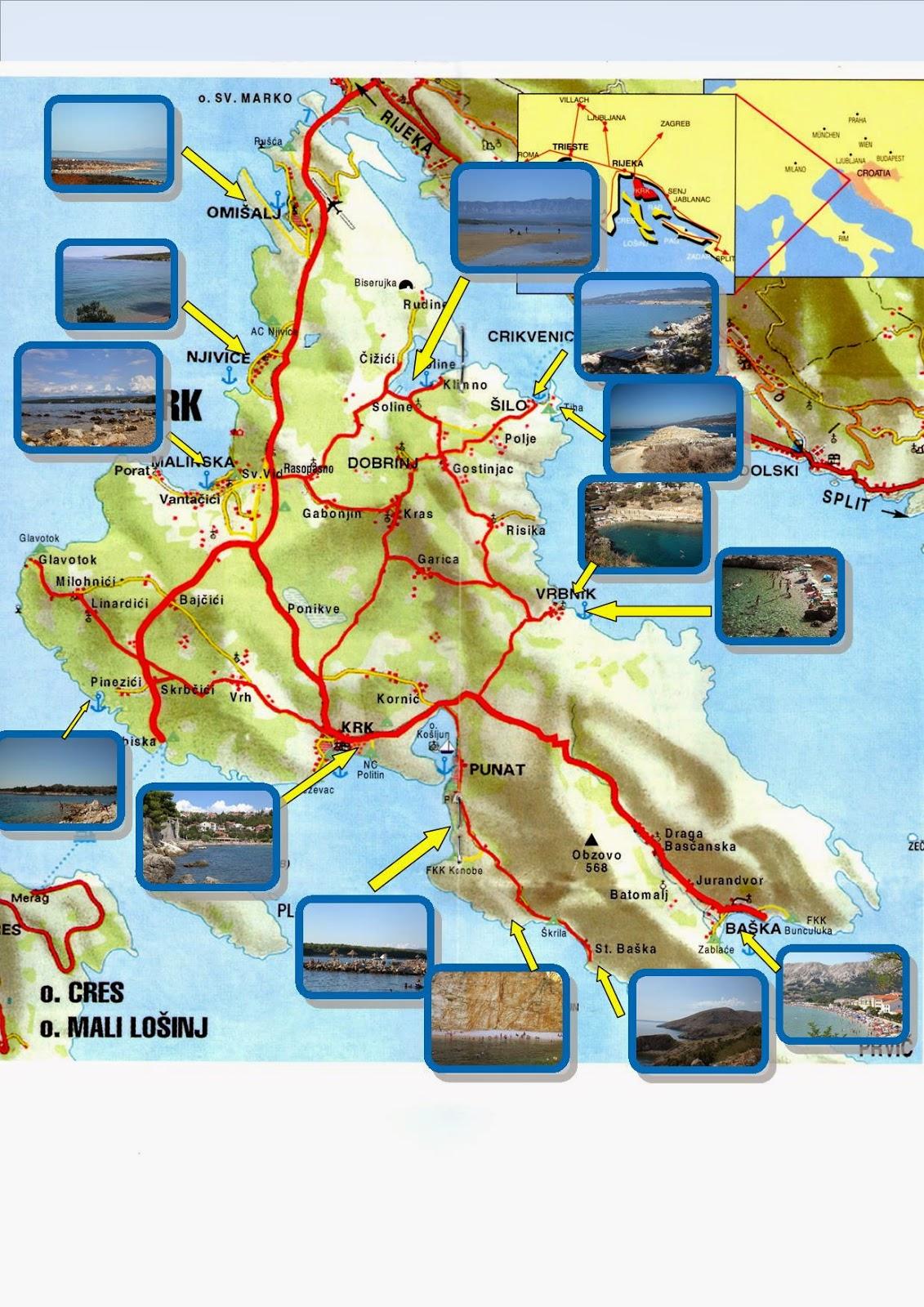 Cartina Krk.Croaziatours Blog Isola Di Krk Veglia