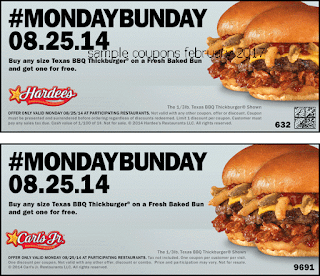 Hardees coupons february 2017