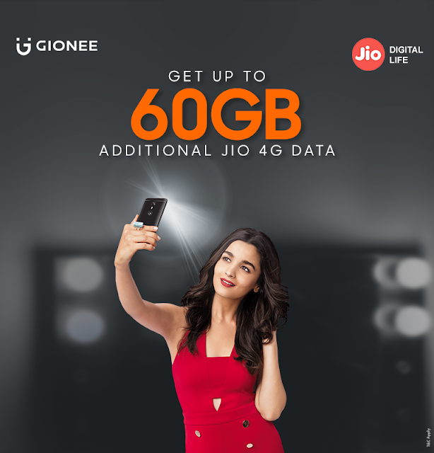 Gionee India introduces attractive deals from Jio and PayTm