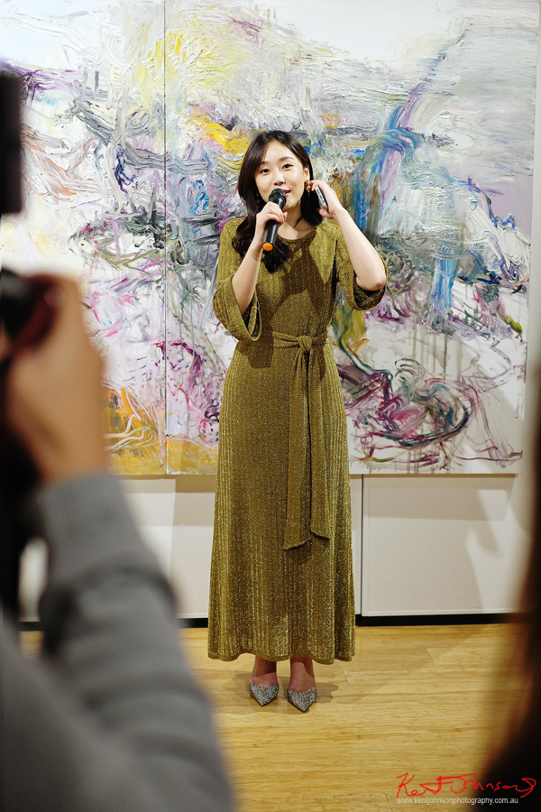Vivien Jiang opens Beyond the Light - Chinese Artist He Zige - Photos By Kent Johnson for Street Fashion Sydney.