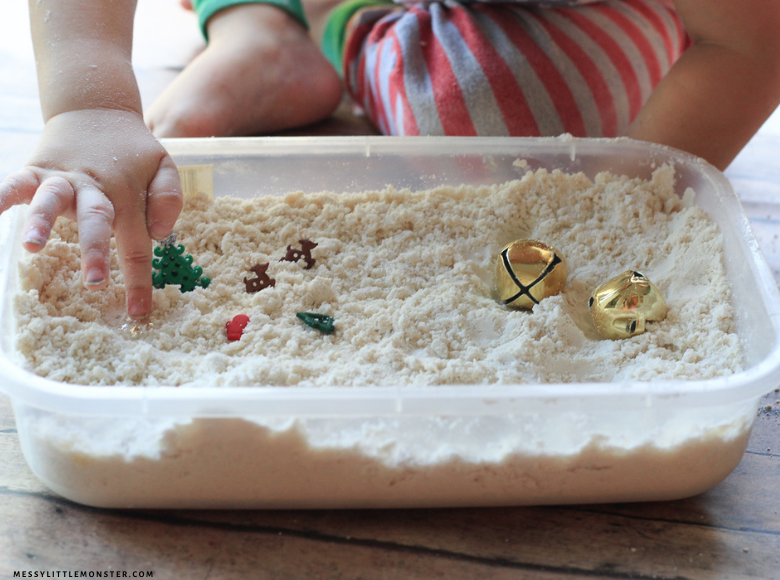 Homemade snow activity for kids