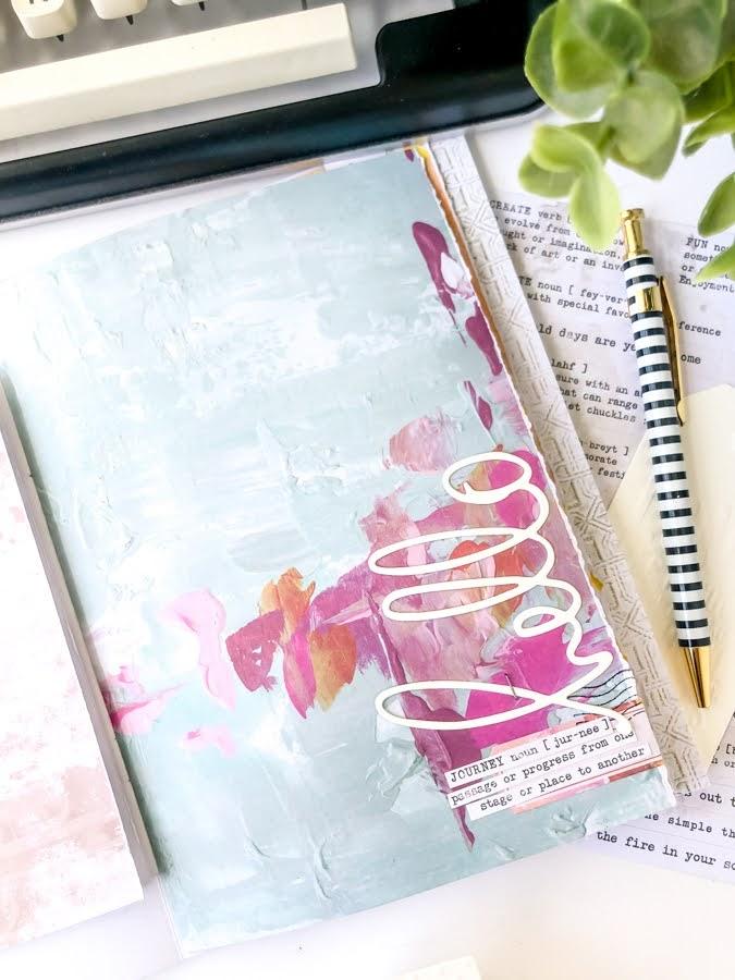 5 DIY Journal Ideas | Heidi Swapp Art Walk DIY Journal by Jamie Pate