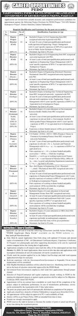 Pakhtunhwa Energy Development organization jobs in KPK 2021