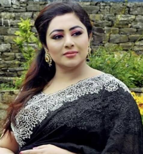 Eva Rahman Black saree