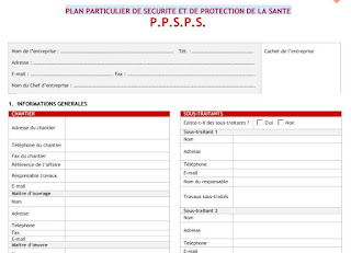 modèle vièrge de PPSPS à télécharger en PDF