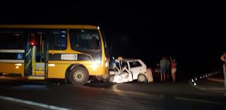 Homem morre preso às ferragens após acidente envolvendo micro-ônibus no trevo de Cuité