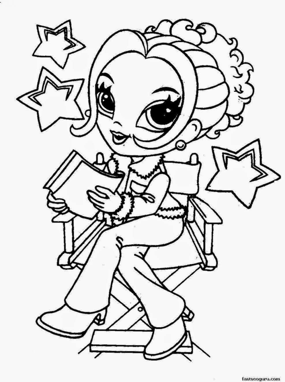coloring pages for girls to print  Coloringpages4kid