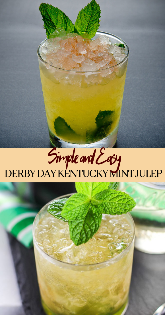 DERBY DAY KENTUCKY MINT JULEP RECIPE  #healthydrink #easyrecipe #cocktail #smoothie