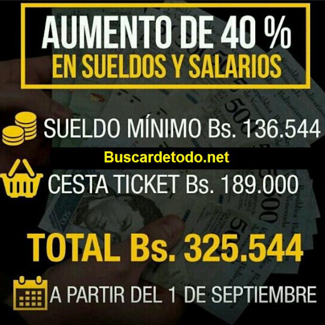Tabla del nuevo salario minimo en Venezuela septiembre 2017. Tabla del sueldo minimo en Venezuela
