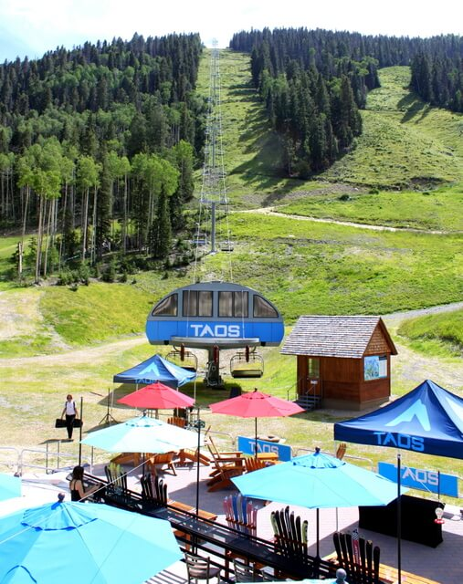 The Taos ski resort is not only a winter destination.