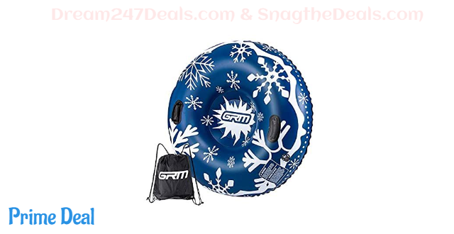 60% OFF  Snow Tube, 47 Inch Sleds for Snow Heavy Duty Inflatable Sledding Tube for Kids and Adults Winter Snow, Blue/Black