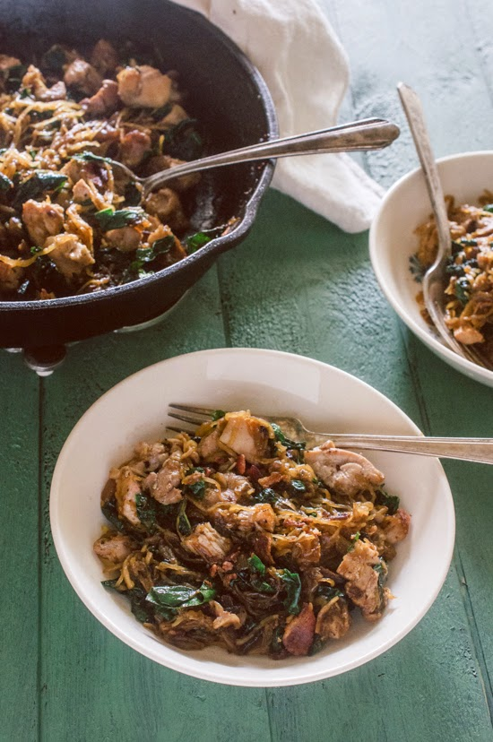 Chicken, Bacon, Kale & Spaghetti Squash Hash (AIP)