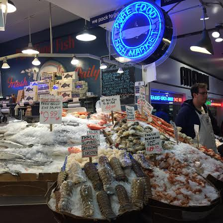 Fish market at Pike Place Market Seattle