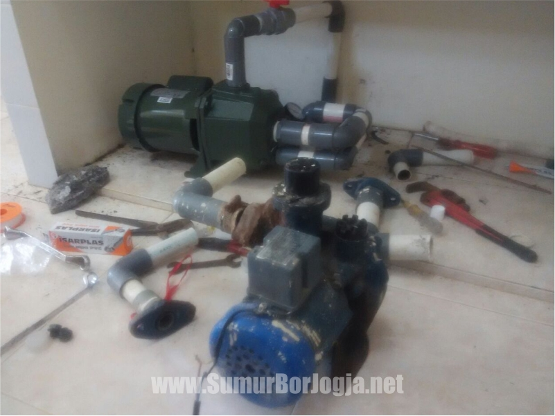 dokumentasi servis pompa air di Godean Sleman Yogyakarta