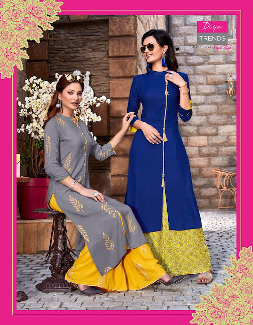 Diya trendz bibas vol 2 kurti and palazzo wholesaler