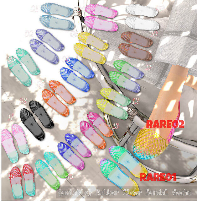 {amiable} Rubber Clear Sandals GACHA