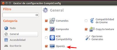 Gestor de configuración CompizConfig