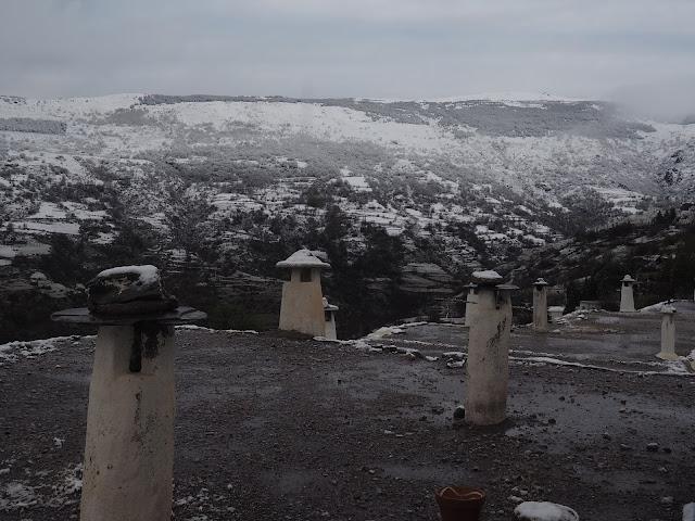 Nieve en la Alpujarra 22 de marzo 2020