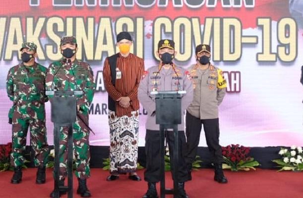 Kapolri Akui Vaksinasi Terhadap Personil TNI-Polri Dipersiapkan Untuk Pengamanan Lebaran