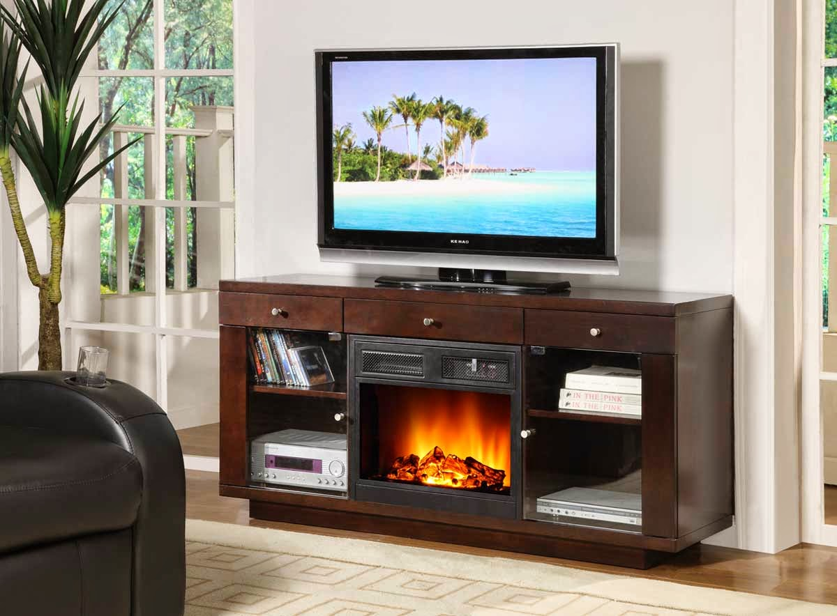 Home Priority: Impressing Electric Fireplace TV Stand for