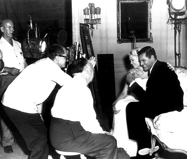 Foto dos bastidores do filme Ladrão de Casaca, de 1955.