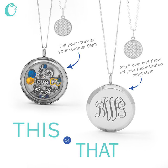 Silver Solid Reversible Origami Owl Twist Living Locket | Shop StoriedCharms.com and create yours today