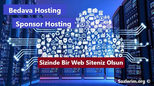 bedava hosting, ücretsiz hosting, sponsor hosting