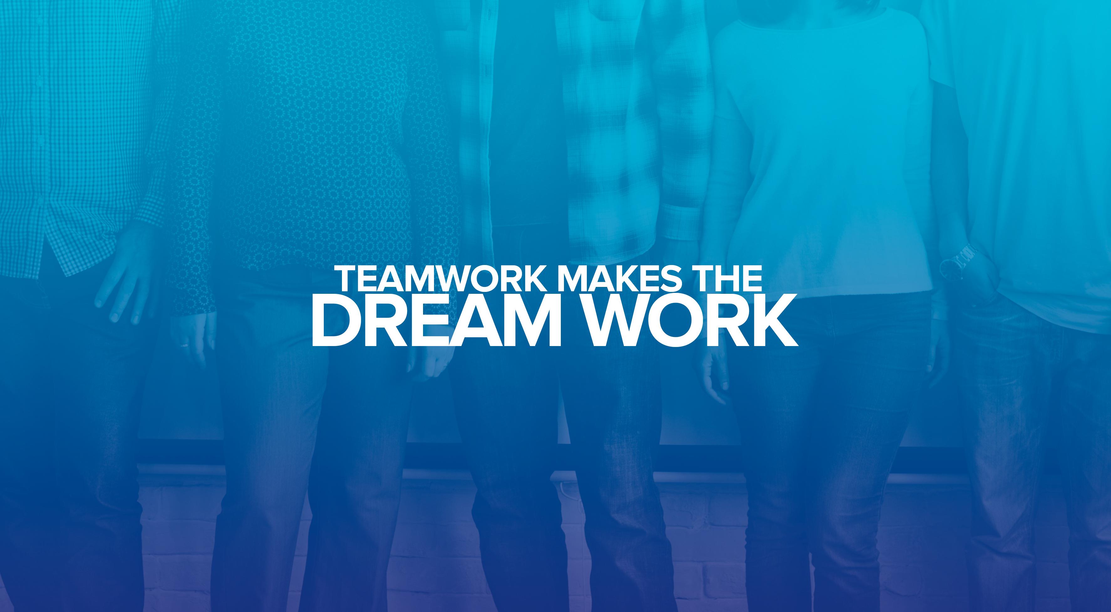 Dream work, Team work, Popular Quotes, HD, Typography