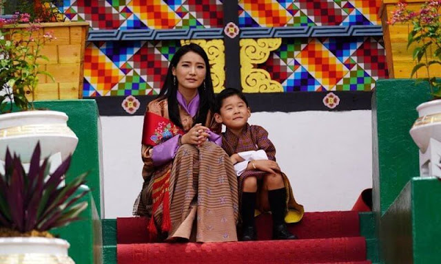 King Jigme Khesar Namgyel Wangchuck, Queen Jetsun Pema and Crown Prince Jigme Namgyel attended the Attestation Parade