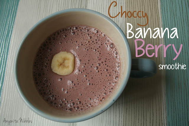 Choccy Banana Berry Smoothie
