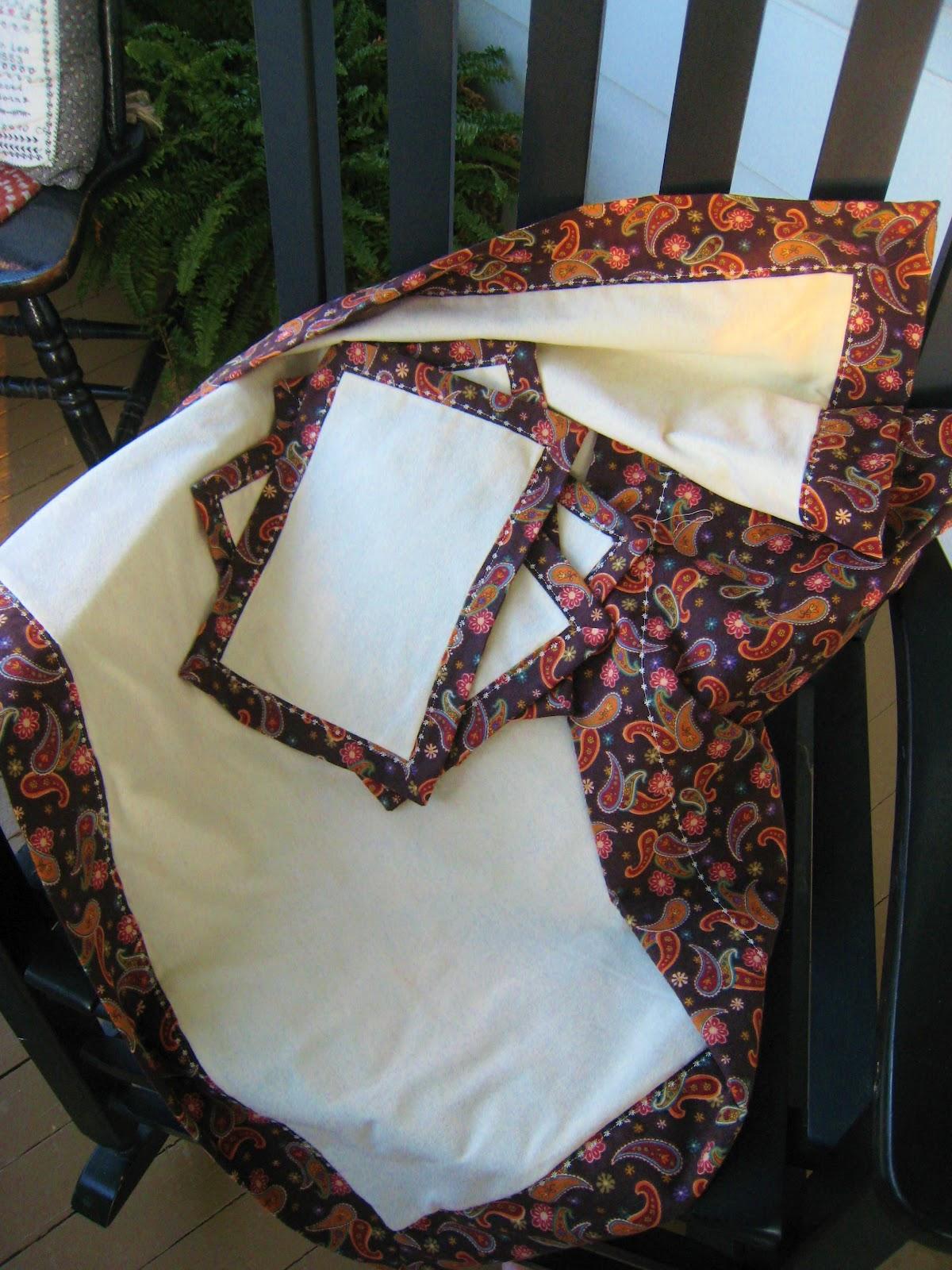 The Vintage Seamstress: Self Binding Receiving Blanket..